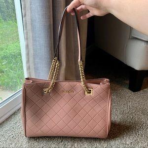 CALVIN KLEIN blush pink quilted shoulder bag